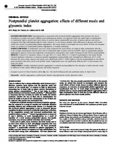 Postprandial platelet aggregation: effects of different meals ... - Nature