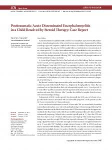 Posttraumatic Acute Disseminated Encephalomyelitis in a Child ...