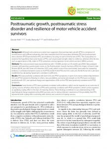 Posttraumatic growth, posttraumatic stress disorder ... - Semantic Scholar