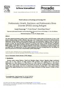 Posttraumatic Growth, Resilience, and Posttraumatic ...