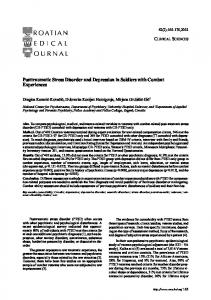 Posttraumatic Stress Disorder and Depression in ... - Semantic Scholar