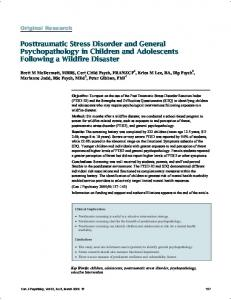 Posttraumatic Stress Disorder and General
