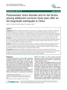 Posttraumatic stress disorder and its risk factors