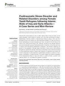 Posttraumatic Stress Disorder and Related ... - Semantic Scholar