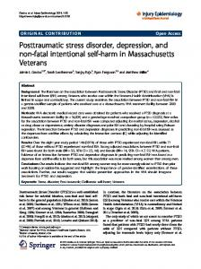 Posttraumatic stress disorder, depression, and non ... - Semantic Scholar