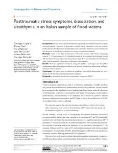 posttraumatic stress symptoms, dissociation, and ... - Semantic Scholar