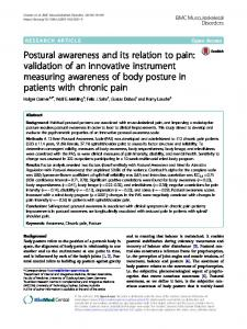 Postural awareness and its relation to pain