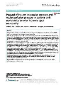 Postural effects on intraocular pressure and ocular perfusion pressure ...