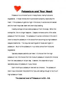 Potassium and Your Heart