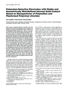 Potassium-Selective Electrodes with Stable and Geometrically Well ...