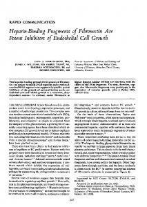 Potent Inhibitors of Endothelial Cell Growth - Europe PMC
