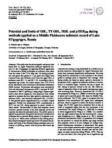 Potential and limits of OSL, TT-OSL, IRSL and ... - Climate of the Past