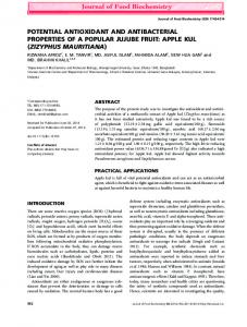 Potential Antioxidant and Antibacterial ... - Wiley Online Library
