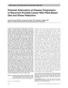 Potential Attenuation of Disease Progression in ... - SAGE Journals
