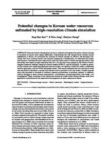Potential changes in Korean water resources estimated by high ...