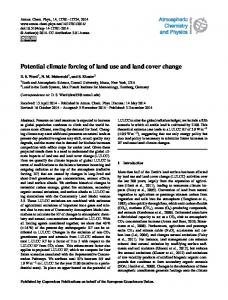 Potential climate forcing of land use and land cover change