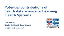 Potential contributions of health data science to