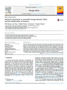 Potential cooperation in renewable energy between China and ... - Core