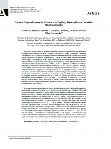Potential Diagnostic Assay for Cystinuria by Capillary Electrophoresis ...