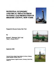 potential economic and fiscal impacts from natural ... - Energy In Depth