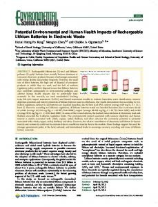 Potential Environmental and Human Health ... - ACS Publications