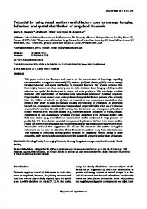 Potential for using visual, auditory and olfactory cues ... - PubAg - USDA