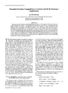 Potential Germline Competition in Animals and Its ... - Genetics