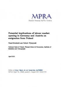 Potential implications of labour market opening in Germany and ...