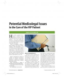Potential Medicolegal Issues