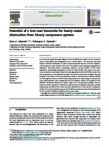Potential of a low-cost bentonite for heavy metal ...