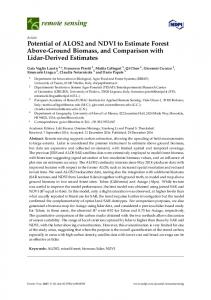 Potential of ALOS2 and NDVI to Estimate Forest ... - Semantic Scholar