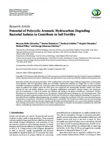Potential of Polycyclic Aromatic Hydrocarbon-Degrading Bacterial ...