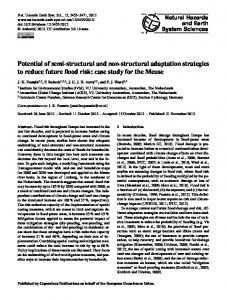Potential of semi-structural and non-structural adaptation strategies to ...