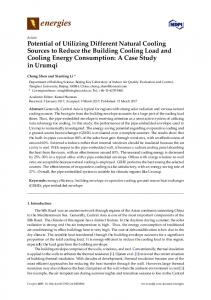 Potential of Utilizing Different Natural Cooling Sources to Reduce the ...