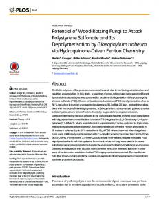 Potential of Wood-Rotting Fungi to Attack Polystyrene Sulfonate and