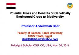 Potential Risks and Benefits of Genetically