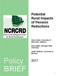 Potential Rural Impacts of Pension Reductions