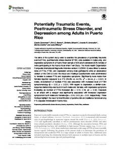 Potentially Traumatic Events, Posttraumatic Stress