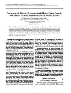 Potentiometric Glucose Determination in Human ... - Springer Link