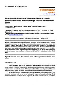 Potentiometric Titration of Micromolar Levels of Anionic Surfactants in