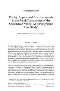 Poultry, Apples, and New Immigrants in the ... - Wiley Online Library