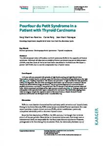 Pourfour du Petit Syndrome in a Patient with Thyroid ... - ScienceOpen