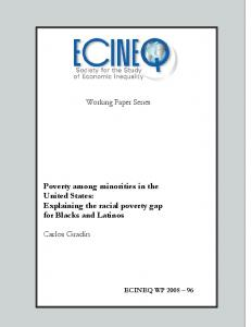 Poverty among minorities in the United States: Explaining the ... - ecineq