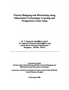 Poverty Mapping and Monitoring using Information Technology ...
