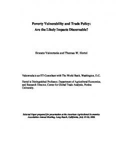 Poverty Vulnerability and Trade Policy: Are the Likely ... - AgEcon Search