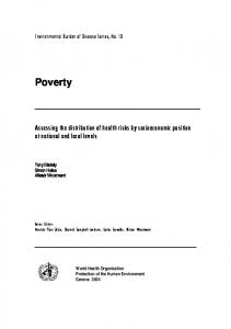 Poverty - World Health Organization