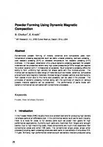 Powder Forming Using Dynamic Magnetic Compaction - Core