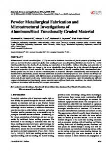 Powder Metallurgical Fabrication and Microstructural Investigations of ...