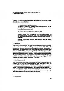 Powder XRD investigations on dotriacontane in mixtures: Phase ...