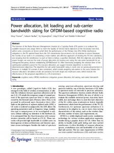 Power allocation, bit loading and sub-carrier bandwidth sizing ... - raiith